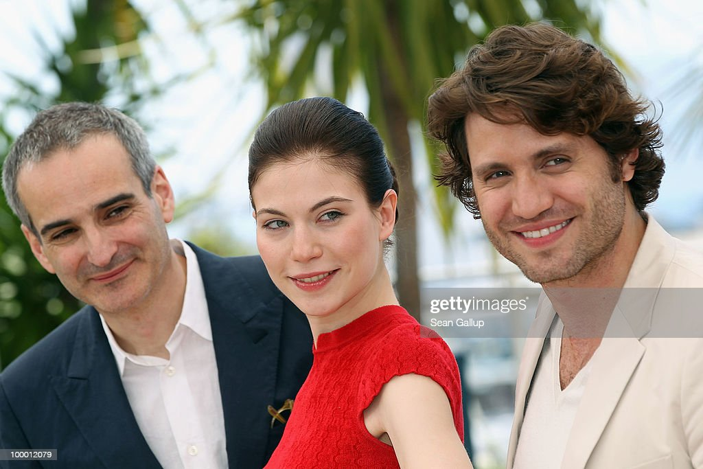 Director Oliver Assayas with actress Nora Von Waldstatten and actor Edgar Ramirez attend the 'Carlos' Photocall at the Palais des Festivals during the 63rd Annual Cannes Film Festival on May 20, 2010 in Cannes, France.