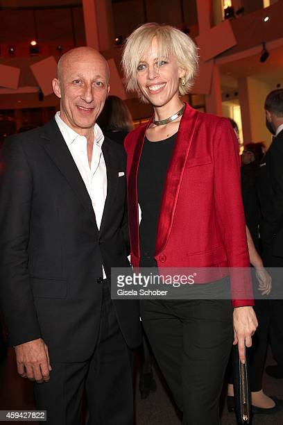 Director Oliver Hirschbiegel Katja Eichinger during the PIN Party 'Lets Party 4 Art' at Neue Pinakothek on November 22 2014 in Munich Germany