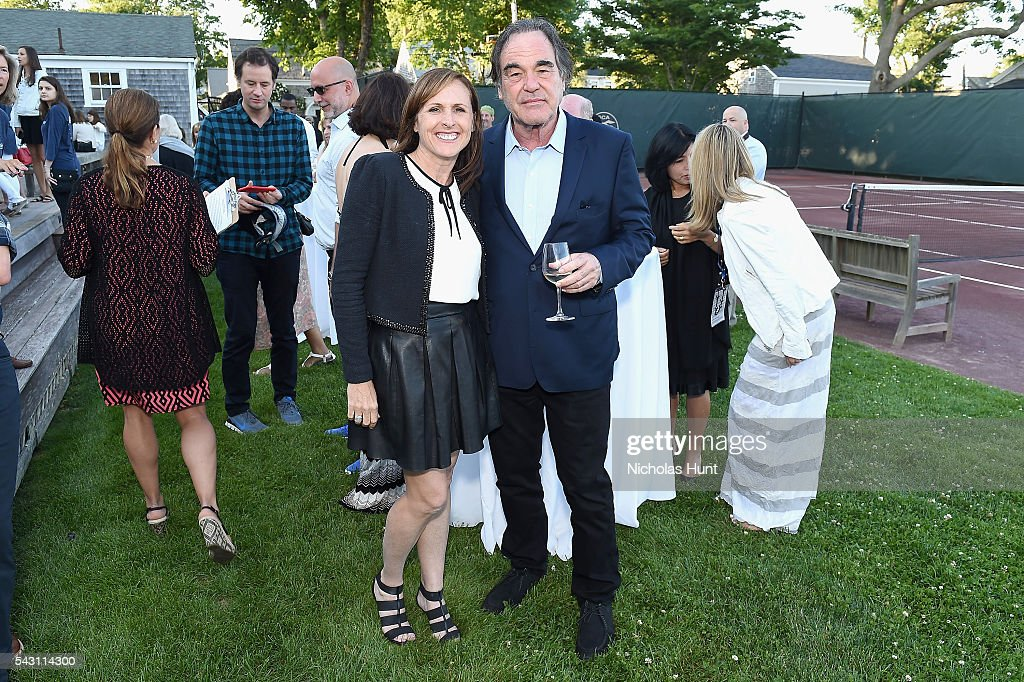 Director Oliver Stone (R) and Comedian Molly Shannon at the 2016 Nantucket Film Festival Day 4 on June 25, 2016 in Nantucket, Massachusetts.