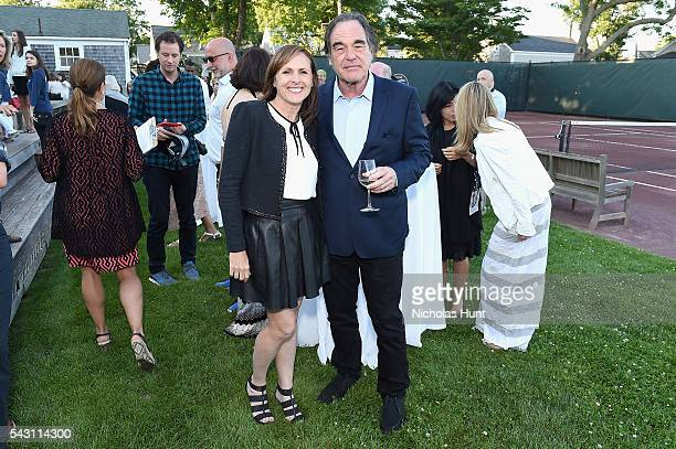 Director Oliver Stone and Comedian Molly Shannon at the 2016 Nantucket Film Festival Day 4 on June 25 2016 in Nantucket Massachusetts