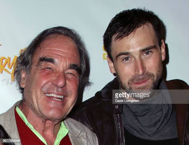 Director Oliver Stone and son actor/writer Sean Stone attend the premiere of Comedy Dynamics' The Fury of the Fist and the Golden Fleece at Laemmle's...