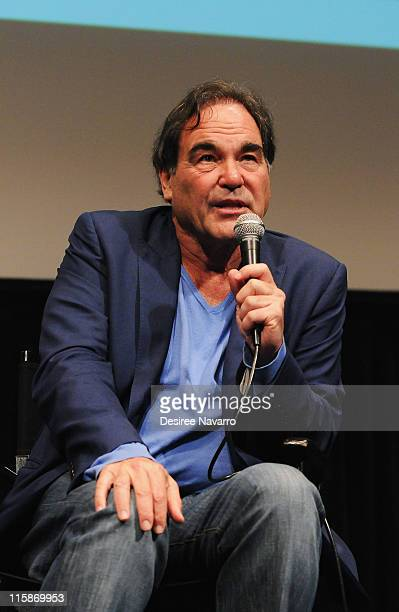 Director Oliver Stone attends the Alexander Revisited screening during the Film Society of Lincoln Center launch at Walter Reade Theater on June 10...