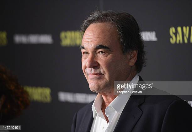 """Director Oliver Stone attends the """"Savages"""" New York premiere at SVA Theater on June 27, 2012 in New York City."""