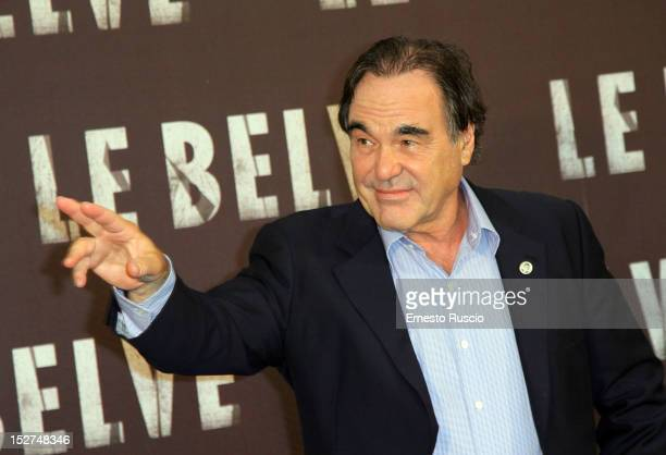 Director Oliver Stone attends the 'Savages' photocall at Hotel de Russie on September 25, 2012 in Rome, Italy.