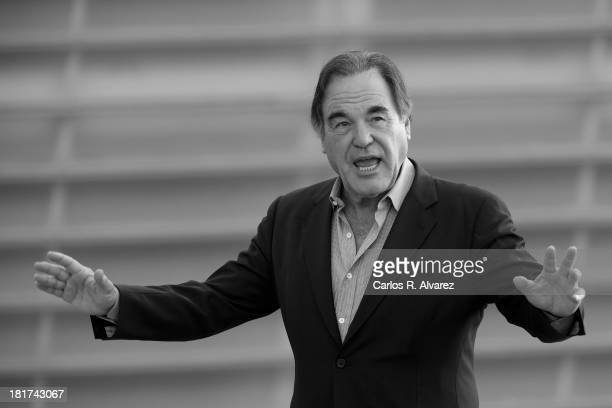 Director Oliver Stone attends the The Untold History of the United States photocall during the 61st San Sebastian Film Festival at the Kursaal Palace...