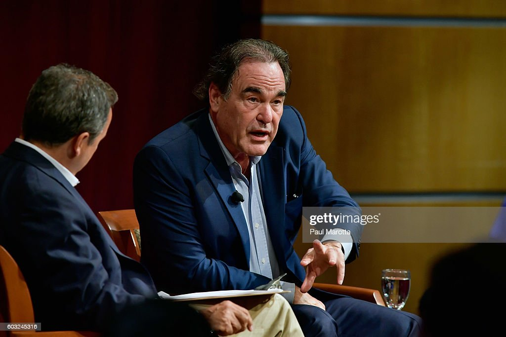 """Director Oliver Stone Talks About His New Film """"Snowden"""" : News Photo"""
