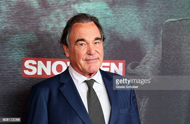 Director Oliver Stone during the Europe premiere of the film 'Snowden' at Mathaeser Filmpalast on September 19 2016 in Munich Germany