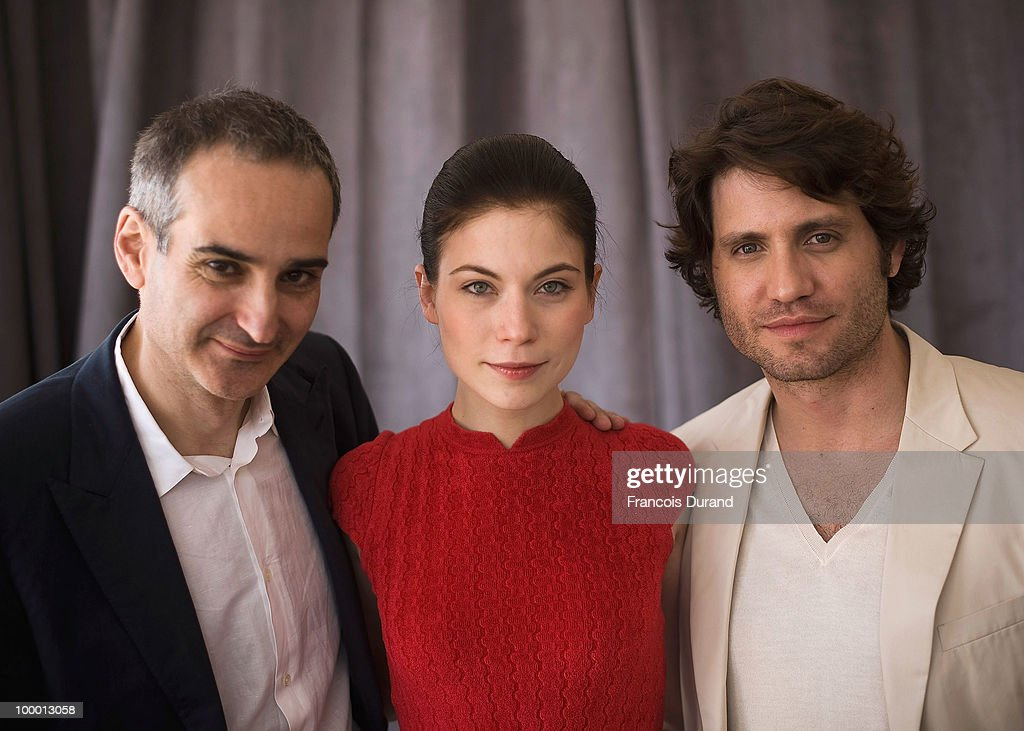 Director Olivier Assayas, actress Nora Von Waldstatten and actor Edgar Ramirez attends the 'Carlos' portrait session at the Audi Beach during the 63rd Annual Cannes Film Festival on May 20, 2010 in Cannes, France.