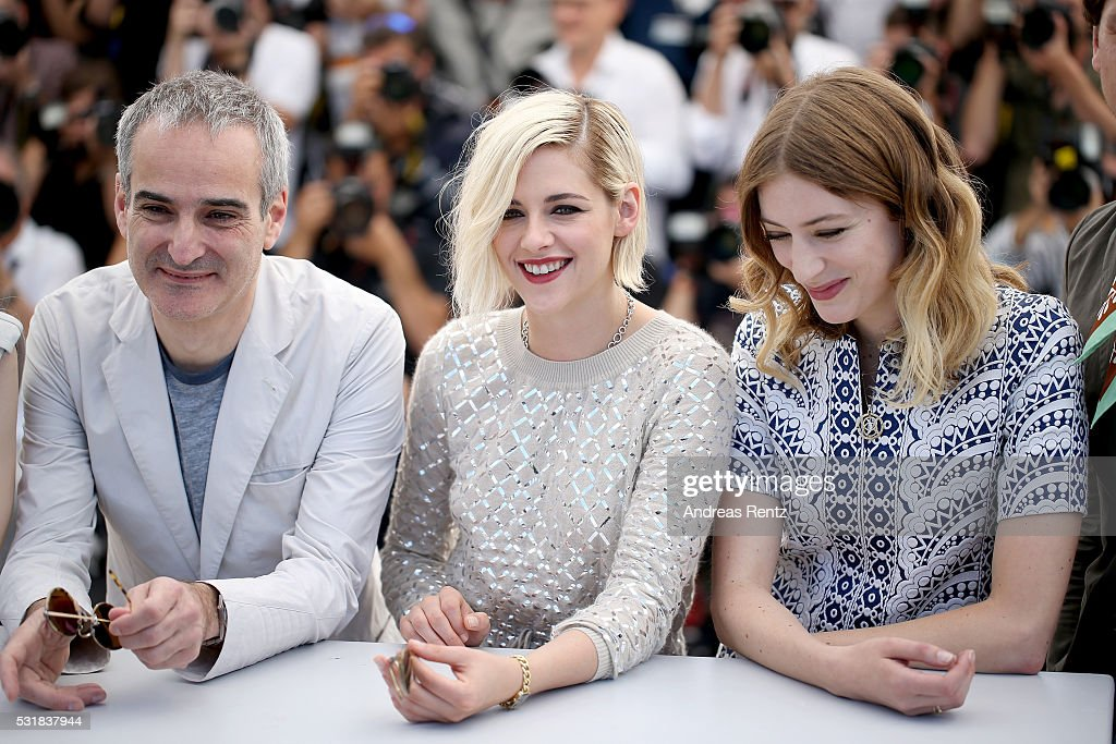 Director Olivier Assayas, actresses Kristen Stewart and Sigrid Bouaziz attend the 'Personal Shopper' photocall during the 69th annual Cannes Film Festival at the Palais des Festivals on May 17, 2016 in Cannes, France.