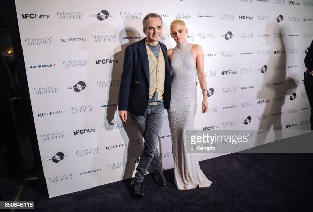 Director Olivier Assayas and actress Kristen Stewart attend the Personal Shopper New York Premiere at Metrograph on March 9 2017 in New York City