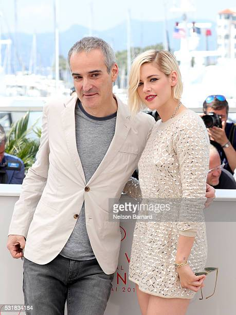 Director Olivier Assayas and actress Kristen Stewart attend the 'Personal Shopper' photocall during the 69th annual Cannes Film Festival at the...