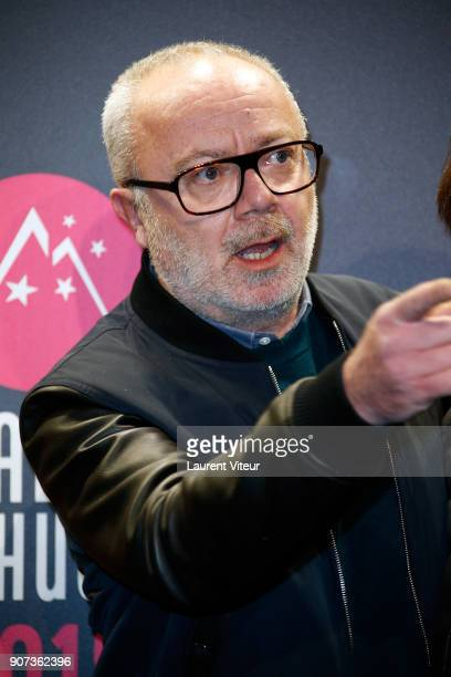 Director Olivier Baroux attends 'Les Tuches 3 Liberte Egalite FraterniTuche' Premiere during the 21st Alpe D'Huez Comedy Film Festival on January 19...