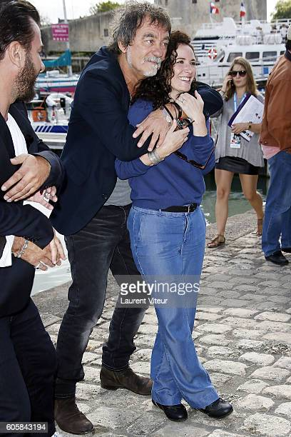 Director Olivier Marchal and Actress Elsa Lunghini attend the 'Mon Frere Bien Aime' Photocall during the 18th Festival of TV Fiction on September 15...