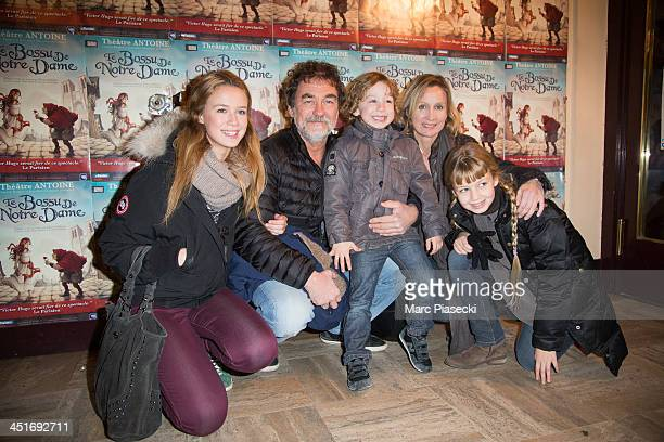 Director Olivier Marchal and wife Catherine Marchal attend the 'Le Bossu de Notre Dame' performance at Theatre Antoine on November 24 2013 in Paris...