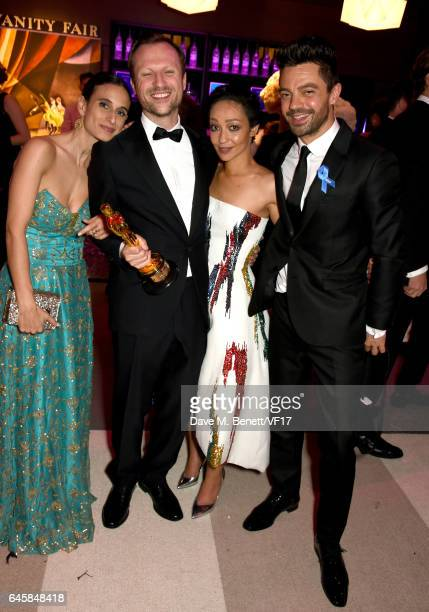 Director Orlando von Einsiedel actors Ruth Negga and Dominic Cooper attends the 2017 Vanity Fair Oscar Party hosted by Graydon Carter at Wallis...