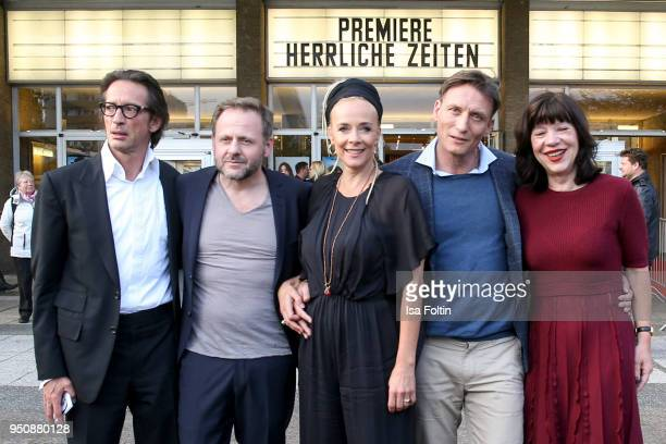 Director Oskar Roehler, German actor Samuel Finzi, German actress Katja Riemann, German actor Oliver Masucci and producer Jutta Mueller during the...