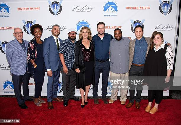 Director Oz Rodriguez Bobby Moynihan Rita Wilson Taran Killam Kenan Thompson and executives attend the 'Brother Nature' New York Premeire at Regal...