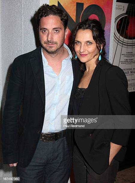 Director Pablo Larrain and actress Antonia Zegers attend Sony Pictures Classics PreOscar Dinner at The London Hotel on February 23 2013 in West...