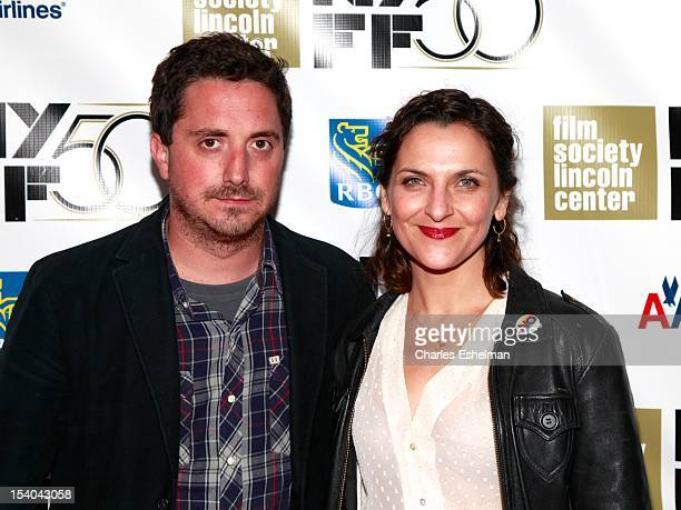 Director Pablo Larrain and actress Antonia Zegers attend the 'No' Premiere During The 50th New York Film Festival at Alice Tully Hall on October 12...