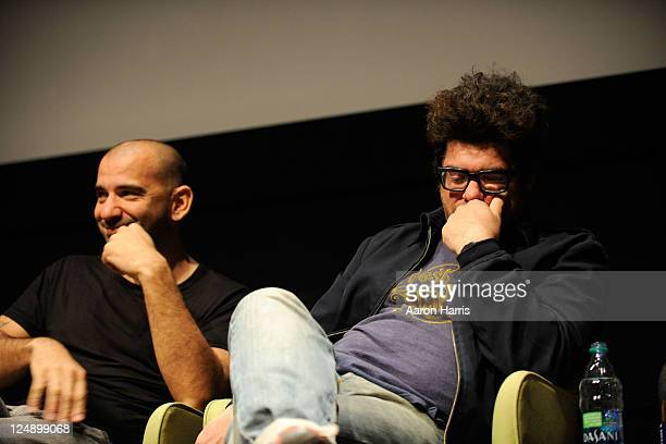Director Pablo Trapero and director Rodrigo Moreno attends City To City Panel Buenos Aires A Conversation at TIFF Bell Lightbox during the 2011...