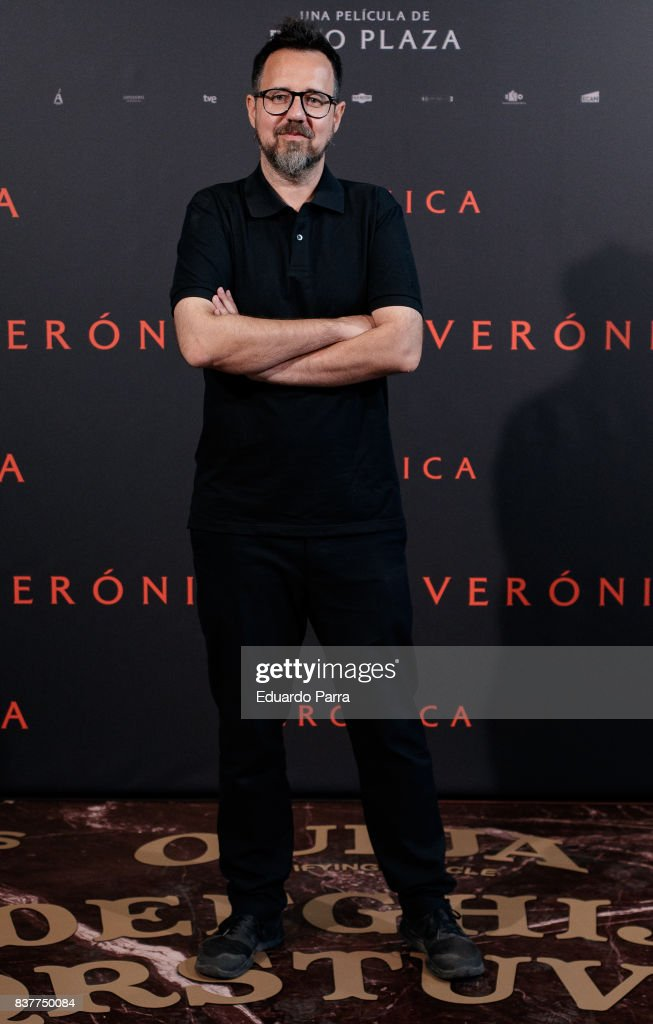 Director Paco Plaza attends a photocall for the film 'Veronica' at the Sony offices on August 23, 2017 in Madrid, Spain.