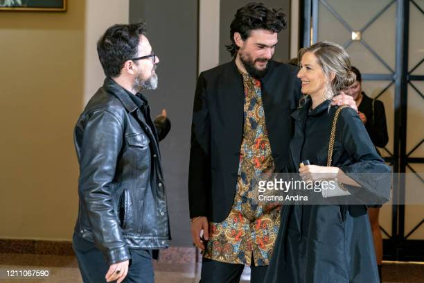 Director Paco Plaza Oliver Laxe and productor Emma Lustres attends the Mestre Mateo Awards in A Coruna on March 07 2020 in A Coruna Spain