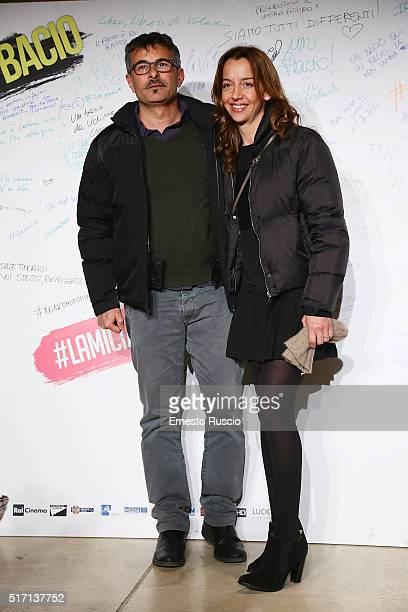 Director Paolo Genovese and his wife Federica Rizzo attend 'Un Bacio' Premiere at Auditorium Parco Della Musica on March 23 2016 in Rome Italy