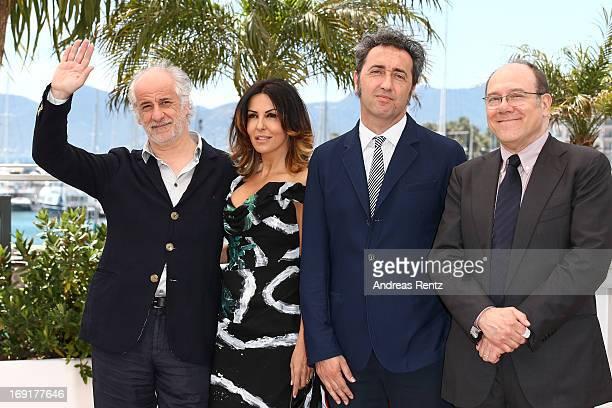Director Paolo Sorrentino actress Sabrina Ferilli actor Toni Servillo and actor Carlo Verdone attend the 'La Grande Bellezza' Photocall during The...