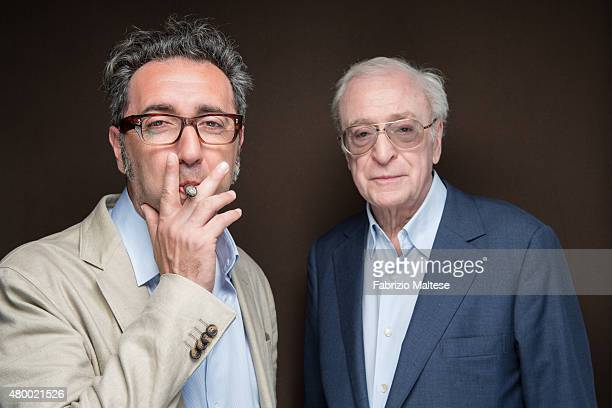 Director Paolo Sorrentino and actor Michael Caine are photographed for The Hollywood Reporter on May 15 2015 in Cannes France