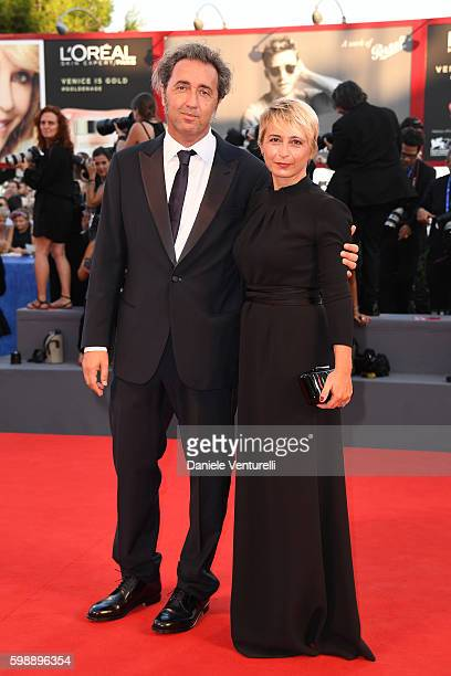Director Paolo Sorrentino and Daniela D'Antonio attend the premiere of 'The Young Pope' during the 73rd Venice Film Festival at on September 3 2016...
