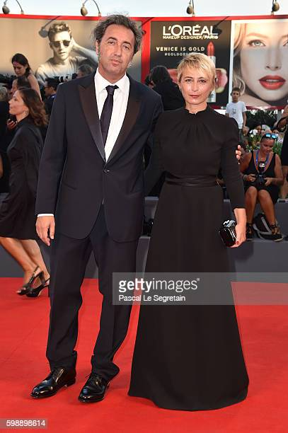 Director Paolo Sorrentino and Daniela D'Antonio attend the premiere of 'The Young Pope' during the 73rd Venice Film Festival at on September 3, 2016...