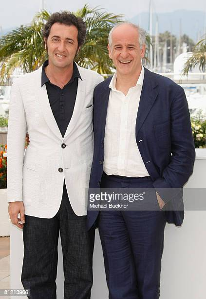 Director Paolo Sorrentino and Toni Servillo attends the Il Divo Photocall at the Palais des Festivals during the 61st International Cannes Film...