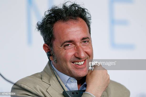 Director Paolo Sorrentino attends the press conference for 'Youth' during the 68th annual Cannes Film Festival on May 20 2015 in Cannes France