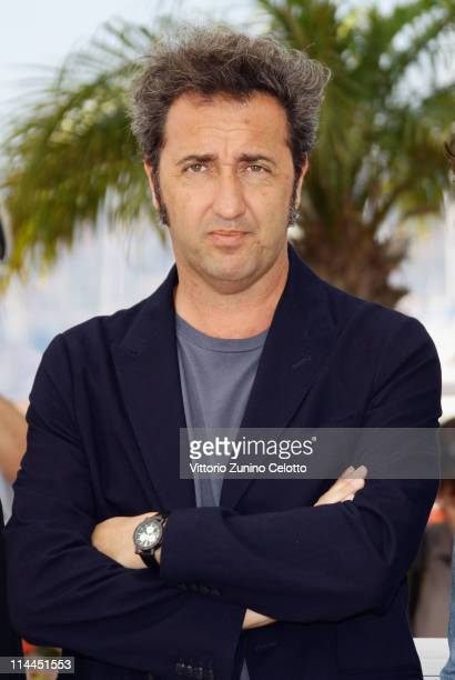 Director Paolo Sorrentino attends the 'This Must Be The Place' photocall during the 64th Annual Cannes Film Festival at Palais des Festivals on May...