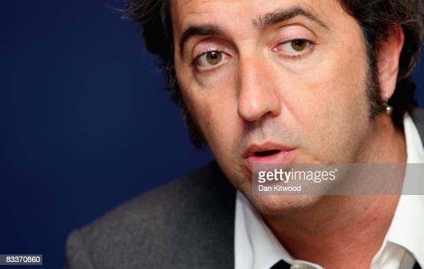 Director Paolo Sorrentino sits for a portrait at the BFI 52nd London Film Festival premier of 'Il Divo' in Leicester Square on October 21, 2008 in...