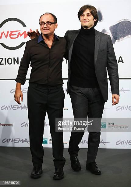 Director Pappi Corsicato and actor Lino Guanciale attend the 'Il Volto Di Un'Altra' Photocall during the 7th Rome Film Festival at the Auditorium...