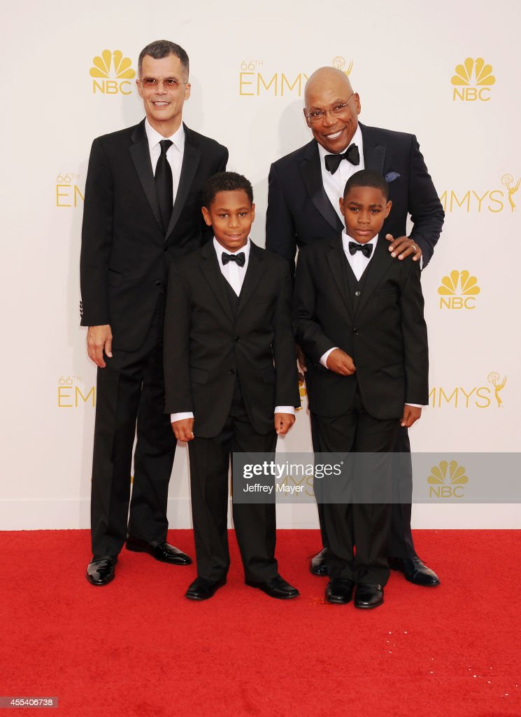 Director Paris Barclay and family arrive at the 66th Annual Primetime Emmy Awards at Nokia Theatre L.A. Live on August 25, 2014 in Los Angeles, California.