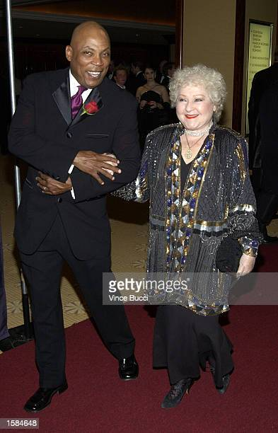 Director Paris Barclay escorts actress Estelle Harris at the Los Angeles Gay and Lesbian Center's 31st Anniversary Gala on November 2 2002 in Los...