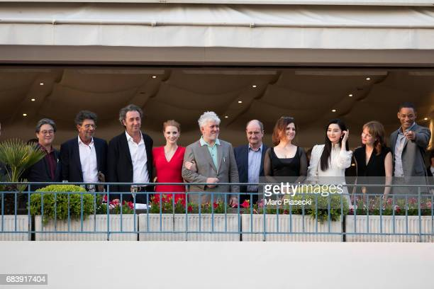 Director Park Chanwook music composer Gabriel Yared director Paolo Sorrentino actress Jessica Chastain director Pedro Almodovar Pierre Lescure...