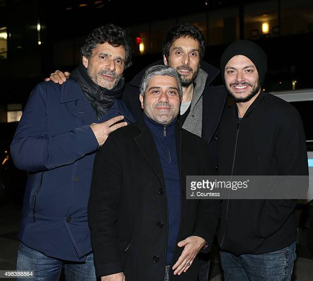 Director Pascal Elbe producer Isaac Sharry actor Vincent Elbaz and actor Kev Adams attend the 2015 In French With English Subtitles NY Film Festival...