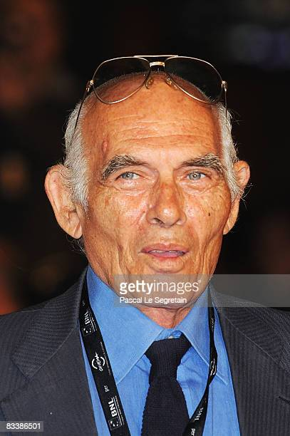 Director Pasquale Squitieri attends the Marc'Aurelio Acting Award Red Carpet during the 3rd Rome International Film Festival held at the Auditorium...