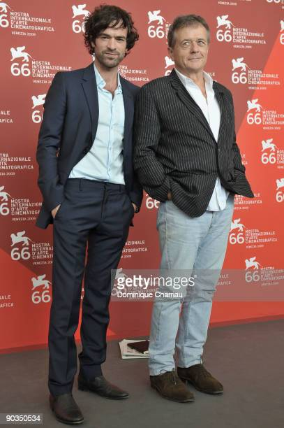 Director Patrice Chereau and Romain Duris attend the 'Persecution' photocall at the Palazzo del Casino during the 66th Venice Film Festival on...
