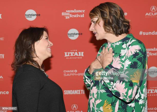 Director Patricia Riggen and director Amy Adrion attend the 'Half The Picture' Premiere during the 2018 Sundance Film Festival at Prospector Square...