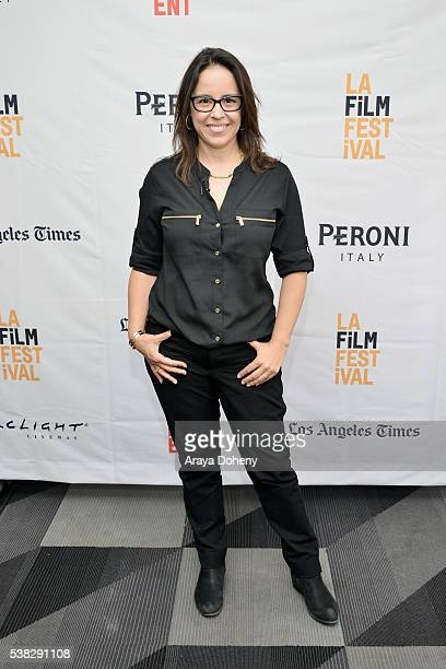 Director Patricia Riggen attends Coffee Talks Directors during the 2016 Los Angeles Film Festival at The Culver Hotel on June 5 2016 in Culver City...