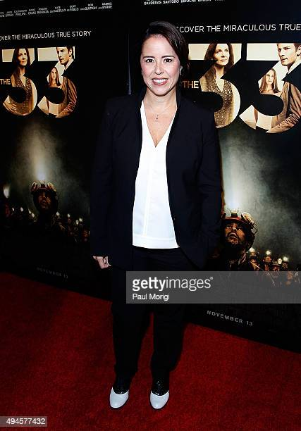 Director Patricia Riggen attends Washington DC premiere of the film The 33 at The Newseum on October 27 2015 in Washington DC