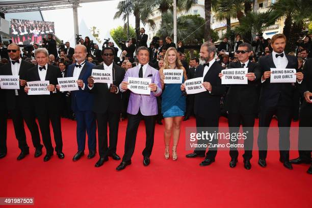 Director Patrick Hughes actors Harrison Ford Kelsey Grammer Wesley Snipes Sylvester Stallone Ronda Rousey Mel Gibson Antonio Banderas and Kellan Lutz...