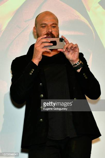 """Director Patrick Hughes speaks onstage during the """"Hitman's Wife's Bodyguard"""" special screening at Crosby Street Hotel on June 14, 2021 in New York..."""