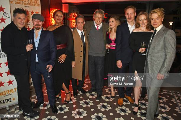 Director Patrick Marber cast members Forbes Masson Sarah Quist Tom Hollander playwright Sir Tom Stoppard Amy Morgan Peter McDonald Clare Foster and...