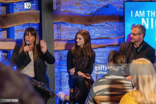 Director Patty Jenkins actress India Eisley and writer Sam Sheridan speak on a panel at the 'I Am the Night' screening at Tupelo on January 25 2019...