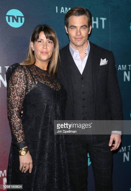 Director Patty Jenkins and actor Chris Pine attend the New York premiere Of TNT's I Am The Night at Metrograph on January 22 2019 in New York City